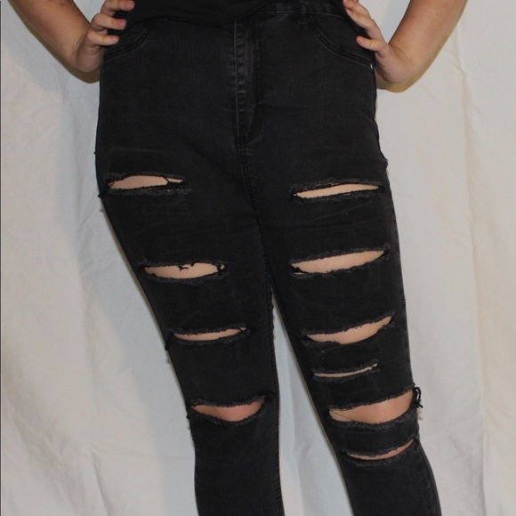 presenting cozy fresh new collection Ripped black jeans